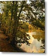 Riverside Reflections Metal Print