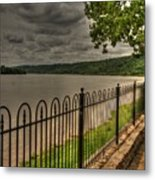 Riverside Walk Metal Print