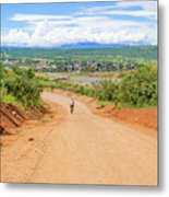 Road Landscape In Tanzania Metal Print