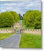 Road To Burghley House Metal Print