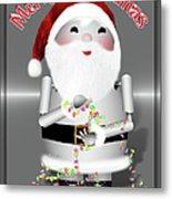 Robo-x9 Wishes A Merry Christmas Metal Print