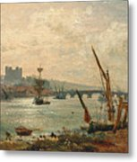 Rochester Cathedral And Castle Metal Print