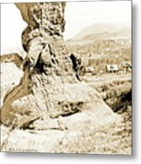 Rock Formation, Garden Of The Gods, 1915, Vintage Photograph Metal Print