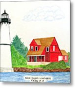 Rock Island Lighthouse Metal Print