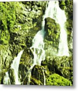Rocky Mountain Waterfall Metal Print
