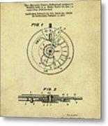 Rolex Watch Patent 1999 In Sepia Metal Print