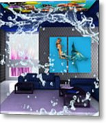 Rooftop Saltwater Fish Tank Art Metal Print