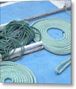 Ropes And Bolt Hook Metal Print