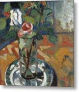 Roses In A Vase Metal Print