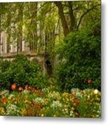 Rouen Abbey Garden Metal Print