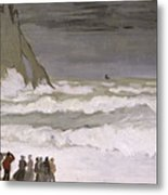 Rough Sea At Etretat Metal Print