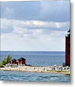 Round Island Lighthouse Metal Print