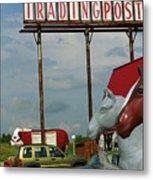 Route 66 - Mule Trading Post Metal Print