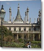 Royal Pavilion And Gardens In Brighton Metal Print