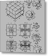 rubik's cube Patent 1983 Metal Print