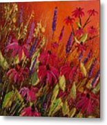 Rudbeckias And Lyatris Metal Print