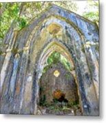 Ruins Of Chapel Sintra Metal Print