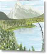 Rundle From Banff Metal Print