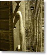 Rusted Door Handle Metal Print