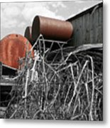 Rusty Drums Metal Print