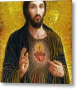 Sacred Heart of Jesus Metal Print
