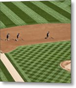 Safeco Field Abstract Patterns With Ground Crew Metal Print