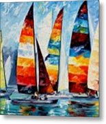 Sail Regatta Metal Print
