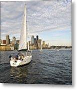 Sail Seattle Metal Print