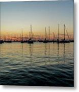 Sailboats At Sunrise  Metal Print