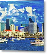 Sailing In San Diego Bay  Metal Print