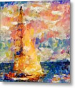 Sailing In The Sea Metal Print