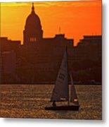 Sailing - Lake Monona - Madison - Wisconsin Metal Print