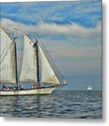 Sailing The Open Seas Metal Print