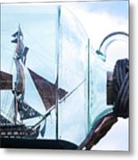 Sailing Within The Bottle Metal Print