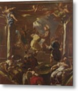 Saint Anthony Of Padua Restores The Foot Of A Man Metal Print