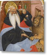 Saint Jerome Extracting A Thorn From A Lion's Paw Metal Print