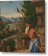 Saint Jerome In A Landscape Metal Print