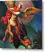 Saint Michael The Warrior Archangel Metal Print