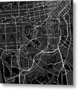 San Francisco California Usa Dark Map Metal Print