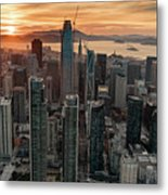 San Francisco Financial District Skyline Metal Print