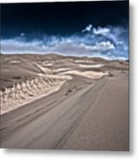 Sand Dunes Of Colorado Metal Print