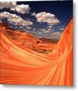 Sandstone Wave Curl Metal Print