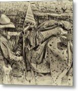 Santa Fe Cowboy Metal Print