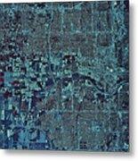 Satellite View Of Oklahoma City Metal Print