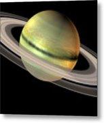 Saturn And Its Rings Metal Print