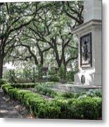 Historic Wright Square - Downtown Savannah Georgia Metal Print