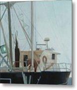 Scallop Boat Metal Print