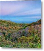 Scenic Blue Ridge Parkway Appalachians Smoky Mountains Autumn La Metal Print