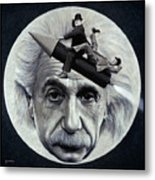Scientific Comedy Metal Print