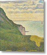 Seascape At Port-en-bessin Normandy Metal Print